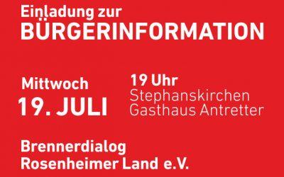 Einladung zur Bürgerinformation
