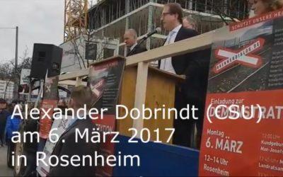 Statement zum Jahrestag unserer Demo in Rosenheim – Hat Herr BM Dobrindt Wort gehalten?
