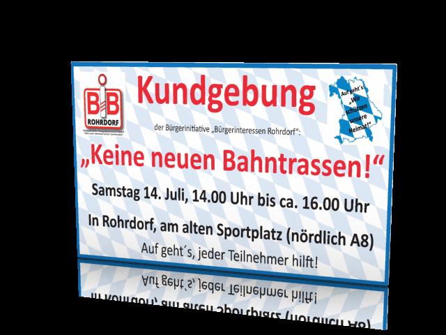 Kundgebung in Rohrdorf am alten Sportplatz (nördlich A8)