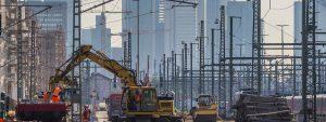 Dauerbaustelle: Alleine im Rhein-Main-Gebiet will die Deutsche Bahn 12 Milliarden Euro in ihre Infrastruktur investieren. Bild: dpa