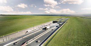 So sollte er aussehen: Visualisierung des Tunnels zwischen Dänemark und Fehmarn. Foto: dpa