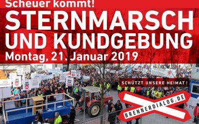 Sternmarsch und Kundgebung am 21. Januar
