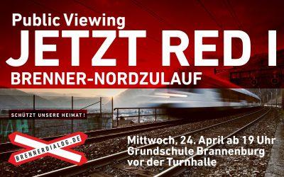 """Public Viewing """"Jetzt red i"""" (BR) in Brannenburg"""