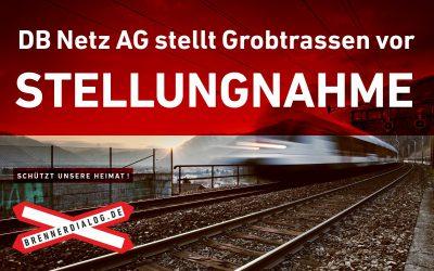 Brenner-Nordzulauf: Stellungnahme zur Vorstellung der Grobtrassen