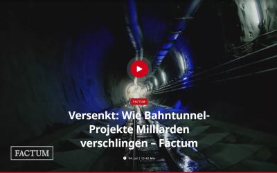 "Jetzt auf YouTube: ""Versenkt – Wie Bahntunnel-Projekte Milliarden verschlingen"" (Servus TV)"